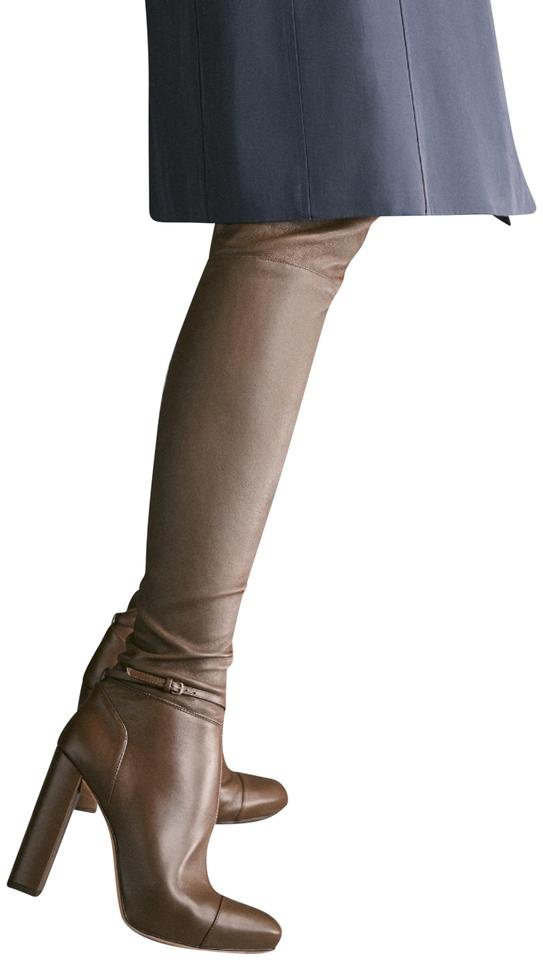 Massimo Dutti Taupe - Online Leather Sold-out In Stores and Online - Boots/Booties ac0703