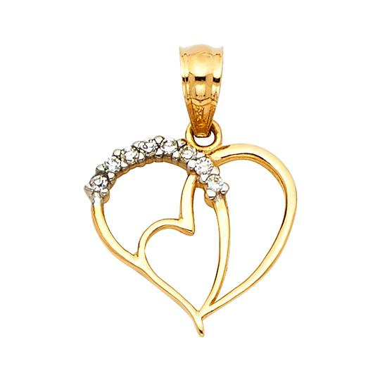 Preload https://img-static.tradesy.com/item/22906702/yellow-14k-heart-pendant-charm-0-0-540-540.jpg