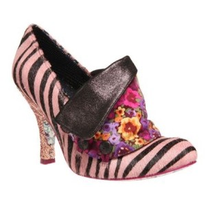 Irregular Choice pink, gold, zebra print Pumps