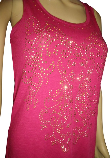 Preload https://img-static.tradesy.com/item/22906777/dots-pink-gold-studded-sleeveless-blouse-size-6-s-0-1-650-650.jpg