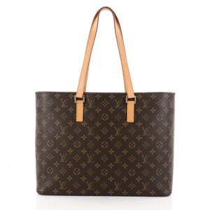 Louis Vuitton Luco Canvas Tote in Brown