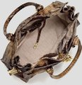 Michael Kors Snakeskin North South Convertible Shoulder Tote in Sand Brown Image 4