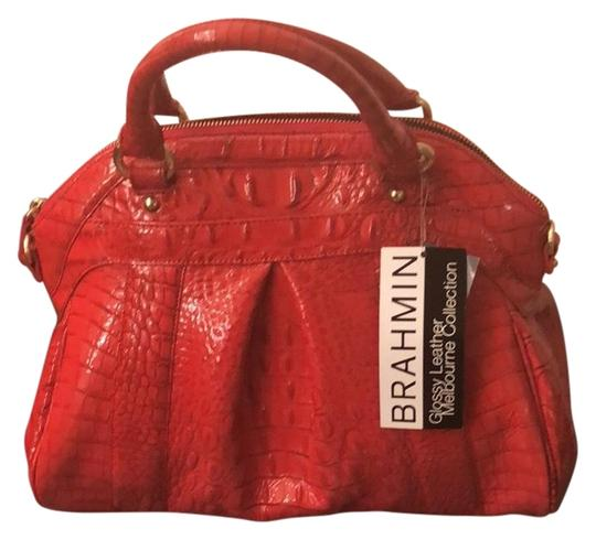 Preload https://img-static.tradesy.com/item/22906962/brahmin-red-leather-satchel-0-1-540-540.jpg