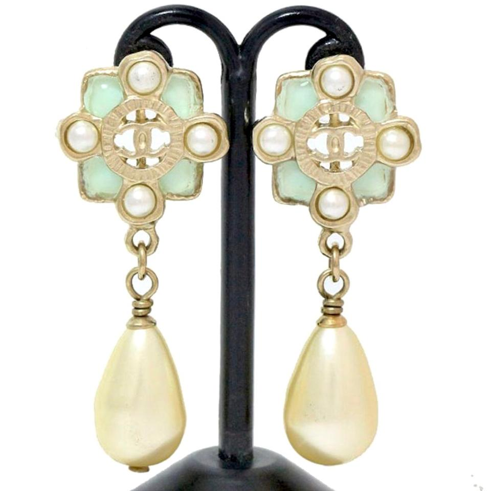 earring gold agate rose diamond green earrings