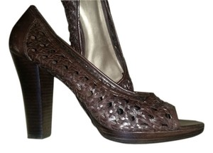 Circa Joan & David Leather dark brown Pumps