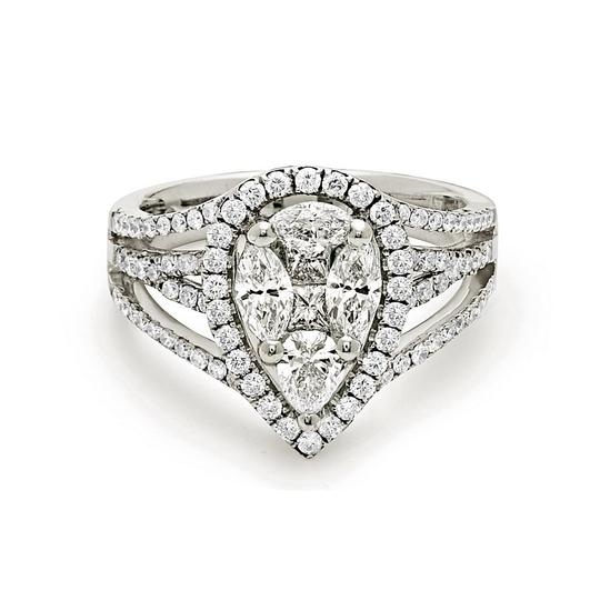 Preload https://img-static.tradesy.com/item/22906984/white-gold-18k-pear-shape-style-invisible-cluster-setting-ring-0-0-540-540.jpg