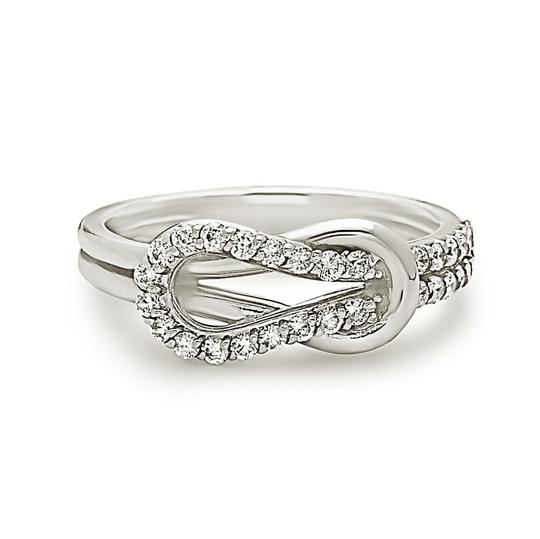 Other 14k white gold promise ring love knot style