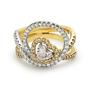 Other Fashion ring center heart shape diamond .50ct halo style