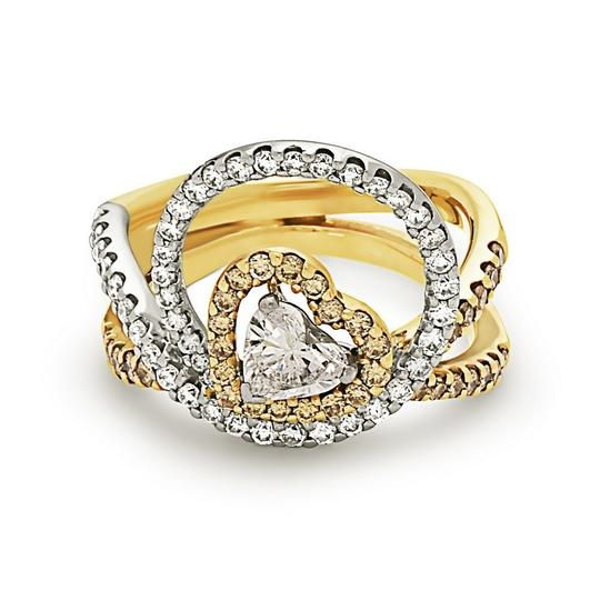 Preload https://img-static.tradesy.com/item/22907043/white-gold-and-yellow-gold-fashion-center-heart-shape-diamond-50ct-halo-style-ring-0-0-540-540.jpg