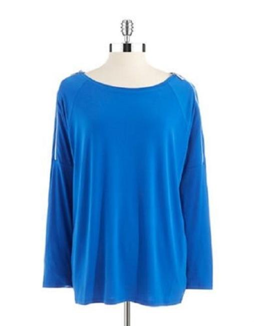 Preload https://img-static.tradesy.com/item/22907050/michael-michael-kors-blue-zipper-accented-34-down-sleeve-sweaterpullover-size-20-plus-1x-0-0-650-650.jpg