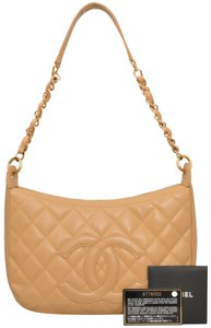 Chanel Quilted Caviar Caviar Leather Shoulder Bag