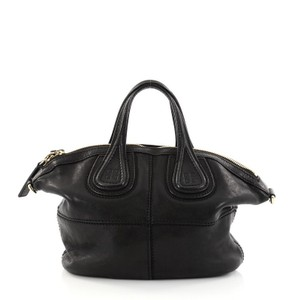 Givenchy Nightingale Leather Satchel in Black