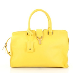 Saint Laurent Classic Leather Tote in Yellow