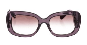 Prada Prada Gray Acetate Baroque Rectangle Sunglasses