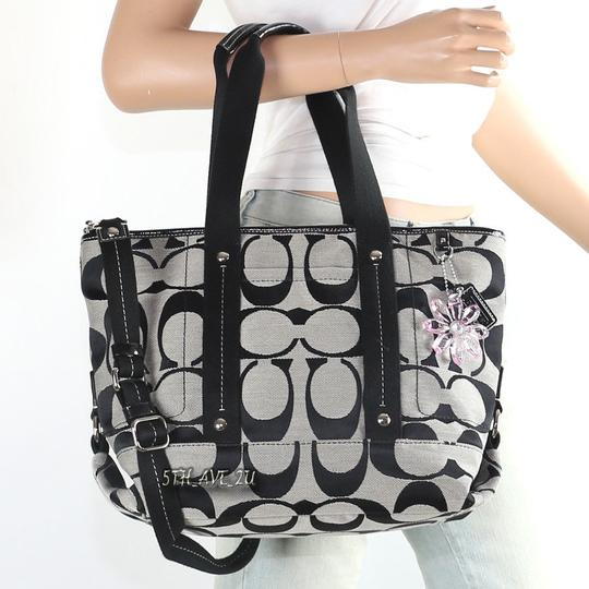 Coach 18855 Convertible Laptop Diaper Baby Tote in Black Grey