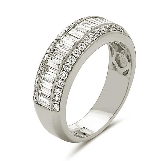 Other 18K white gold channel set baguette cut diamond band
