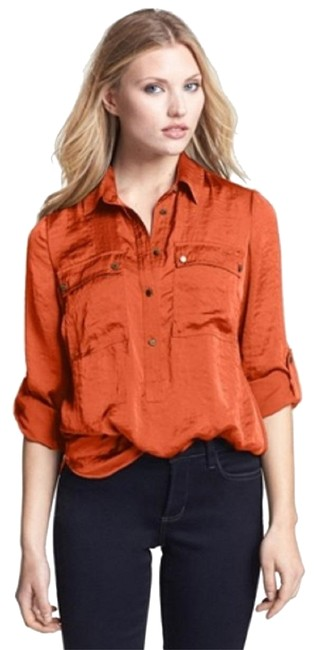 Preload https://img-static.tradesy.com/item/22907128/michael-michael-kors-888235099514-orange-spice-roll-tab-button-down-pull-over-shirt-blouse-size-20-p-0-1-650-650.jpg