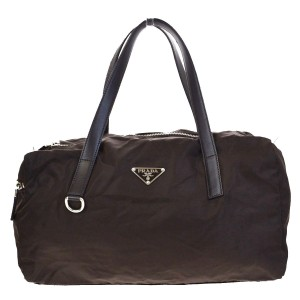 Prada Made In Italy Brown Travel Bag