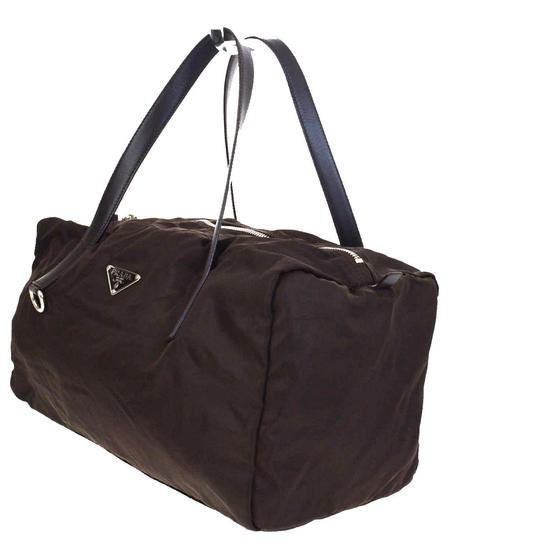 Prada Made In Italy Brown Travel Bag Image 1