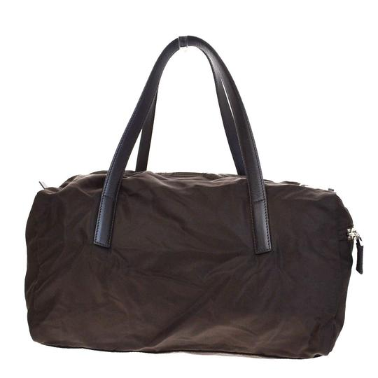 Prada Made In Italy Brown Travel Bag Image 2