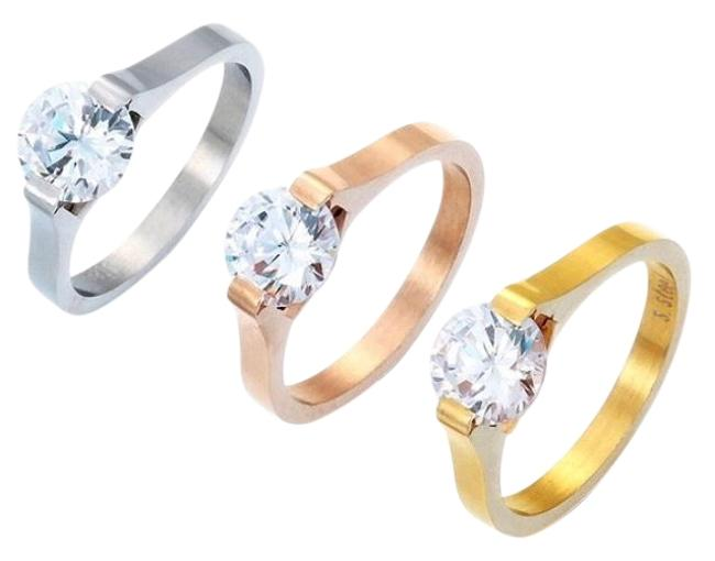 Item - Gold/Stainless Steel New High Quality Ring