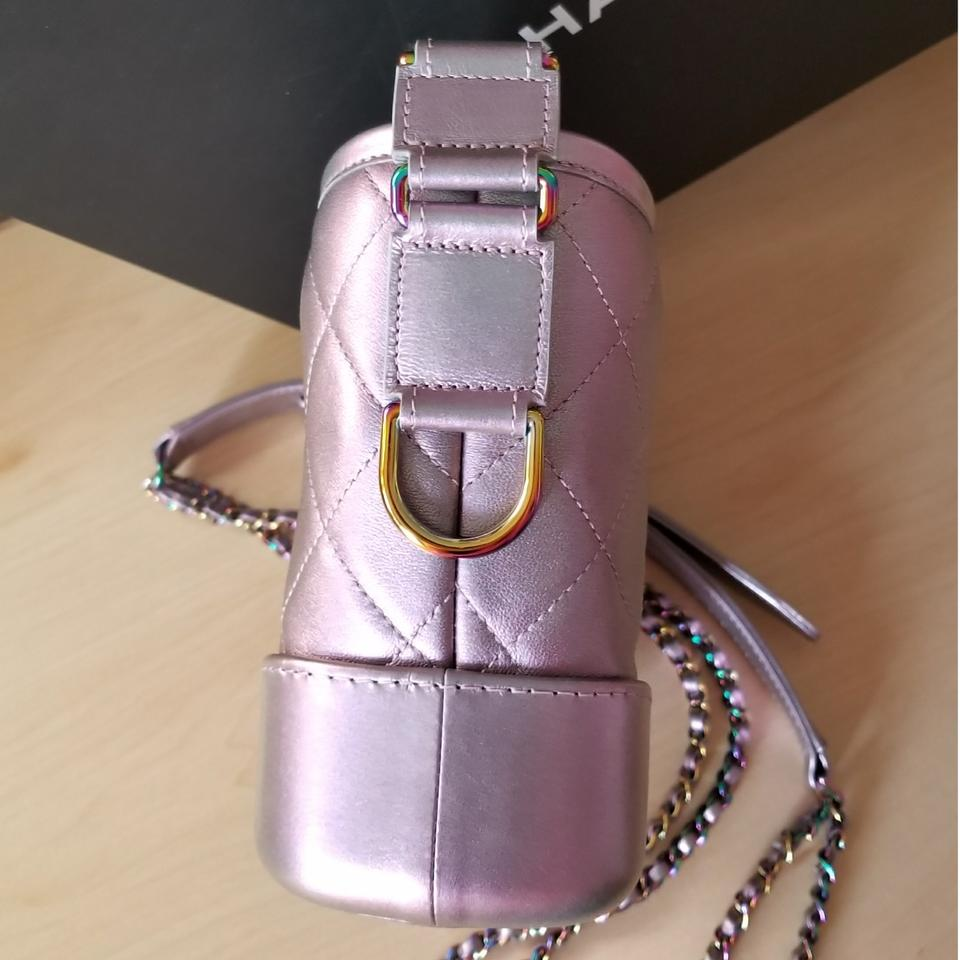 002b282a8c5309 Chanel Gabrielle Small Irridescent Unicorn with Rainbow Hardware ...