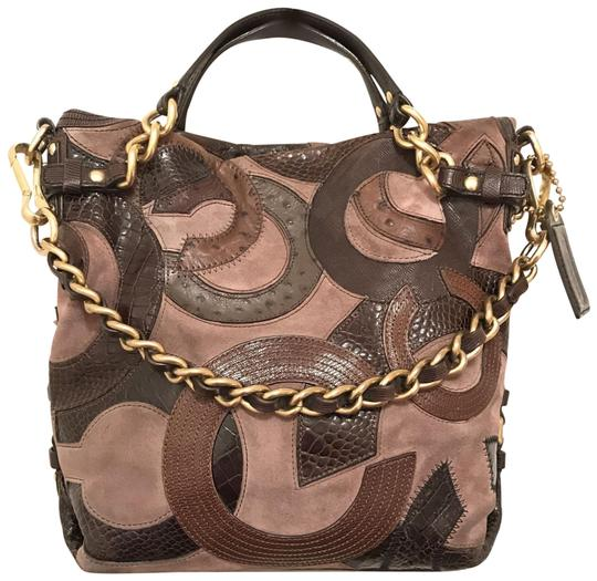 Preload https://img-static.tradesy.com/item/22907461/coach-duffle-hobo-rare-cc-14339-brown-beige-suede-leather-shoulder-bag-0-1-540-540.jpg
