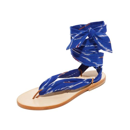 Preload https://img-static.tradesy.com/item/22907483/blue-wrap-sandals-size-eu-38-approx-us-8-regular-m-b-0-0-540-540.jpg