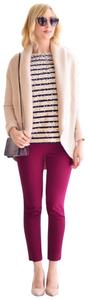 J.Crew Cotton Stretchy Classic Comfortable Skinny Pants Magenta