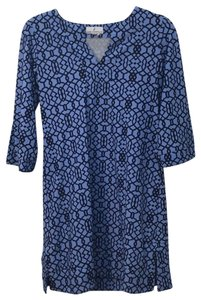 Jude Connally short dress light blue, navy on Tradesy