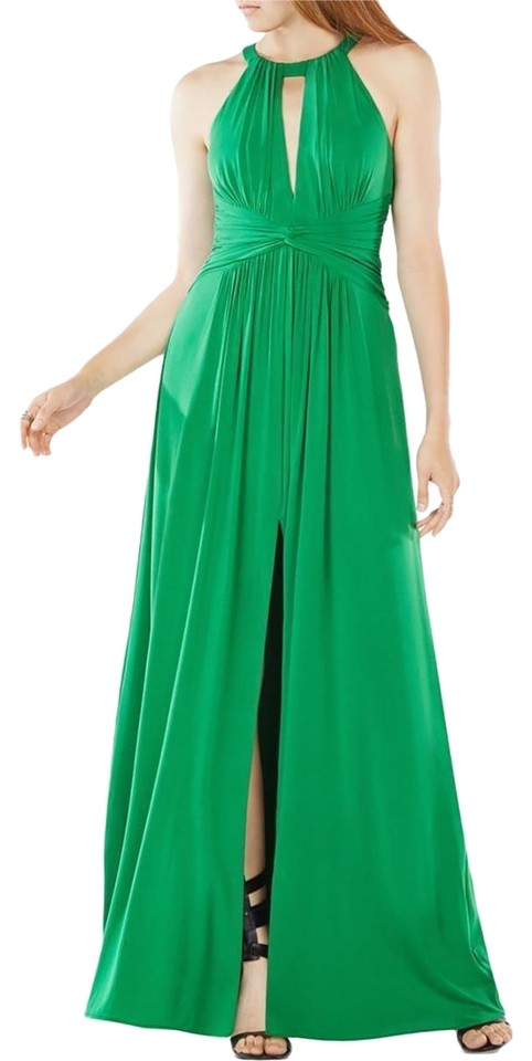 BCBGMAXAZRIA Green Bcbg Max Azria Womens Christina Gathered Evening ...
