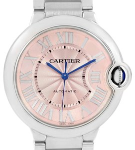 Cartier Cartier Ballon Blue Pink Dial Steel Ladies Watch W6920041
