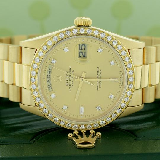 Rolex President Day-Date 18K Factory Diamond Dial 36MM 18038 w/Diamond Bezel Image 1