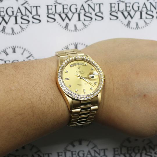 Rolex President Day-Date 18K Factory Diamond Dial 36MM 18038 w/Diamond Bezel Image 2