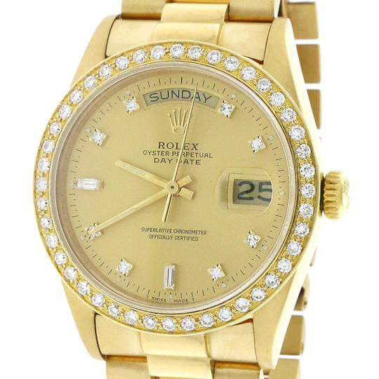 Rolex President Day-Date 18K Factory Diamond Dial 36MM 18038 w/Diamond Bezel Image 3