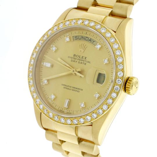 Rolex President Day-Date 18K Factory Diamond Dial 36MM 18038 w/Diamond Bezel Image 4