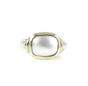 David Yurman David Yurman Sterling Silver 14K Yellow Gold Mabe Pearl Noblesse Ring