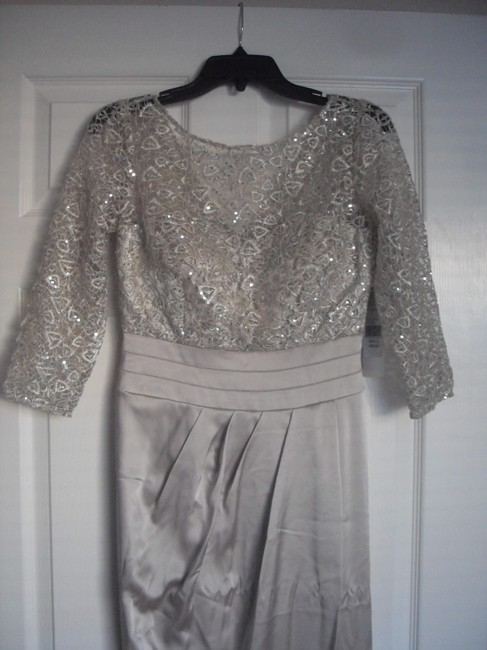 Kay Unger Lace Sheath Sequin Dress Image 5