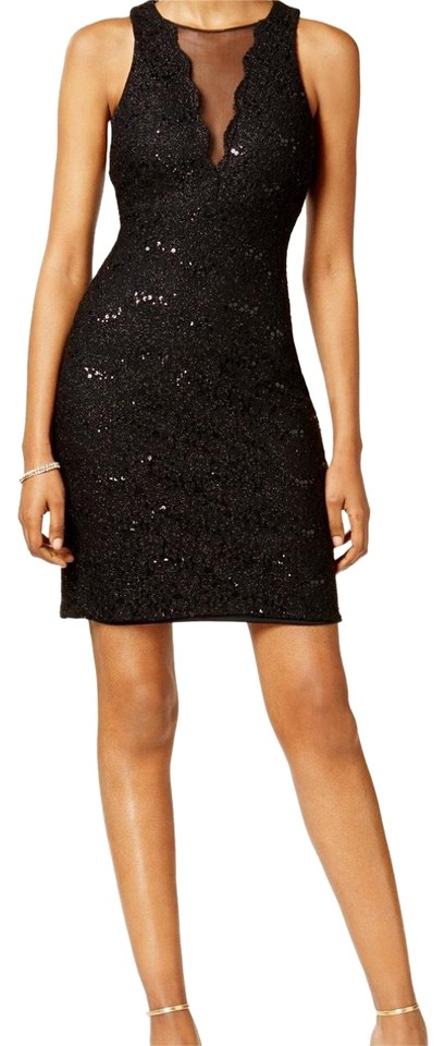 e965c0fdfa4 Night Way Collections Lace Sequined Mid-length Cocktail Dress Size 8 ...