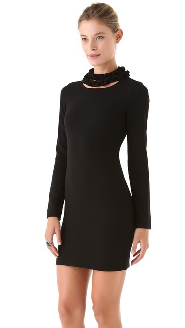 Diane von Furstenberg Dvf Necklace Woven Crepe Dress Image 2