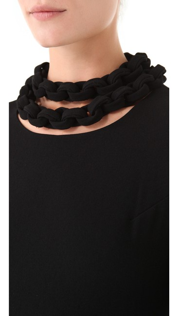 Diane von Furstenberg Dvf Necklace Woven Crepe Dress Image 3