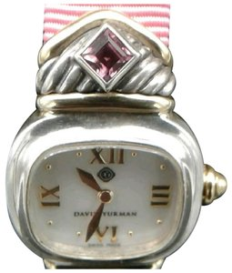 David Yurman David Yurman SS and 14k gold Capri watch w/pink tourmaline