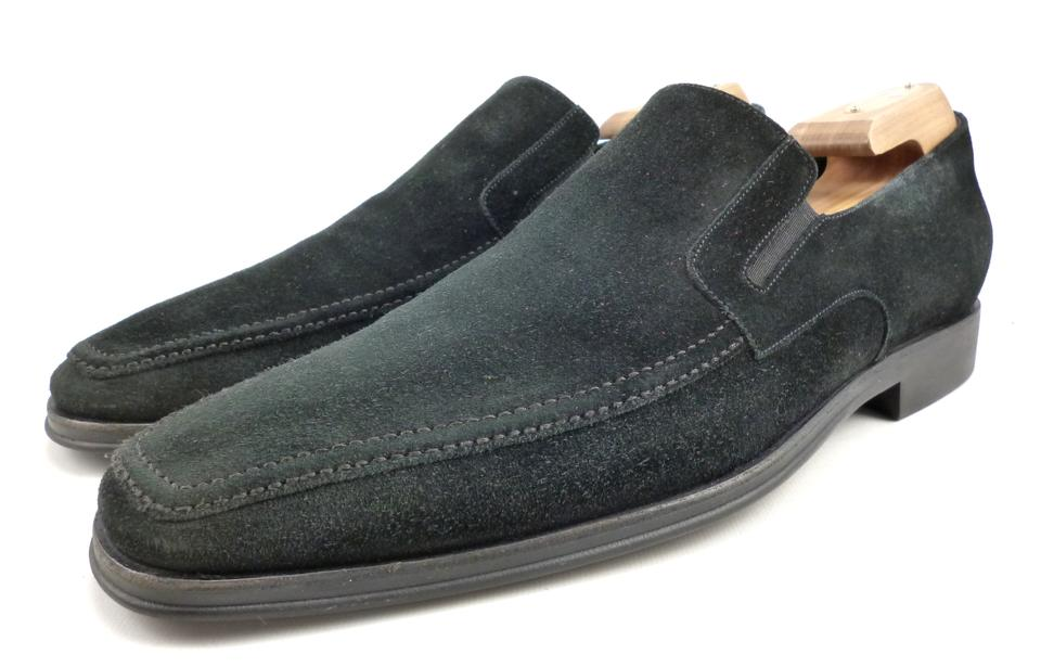 Slip Loafers Leather Shoes Black Bruno Magli On Suede Raging qIXqYT8