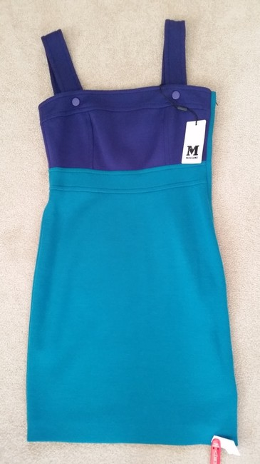 M Missoni short dress Blue and purple Jumper Color Block on Tradesy