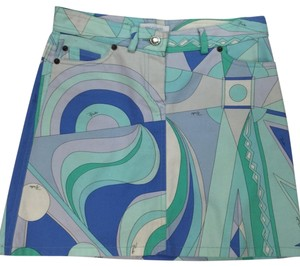Emilio Pucci Mini Skirt multi blues