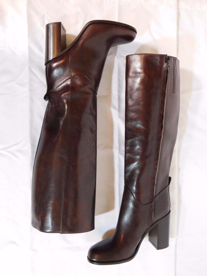 4b99c08b8d6f Kate Spade Brown Baina Leather Knee High Boots Booties Size US 6 ...