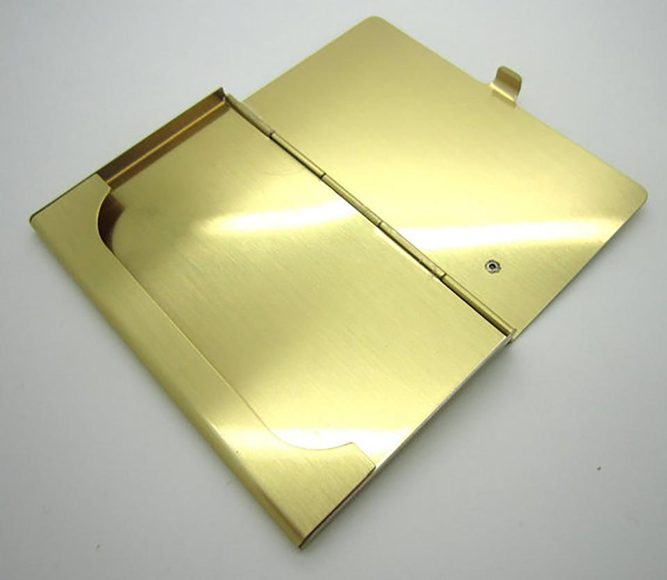 Yellow gold personalized business card case engraved card holder custom personalized business card case custom engraved card holder 12345 colourmoves