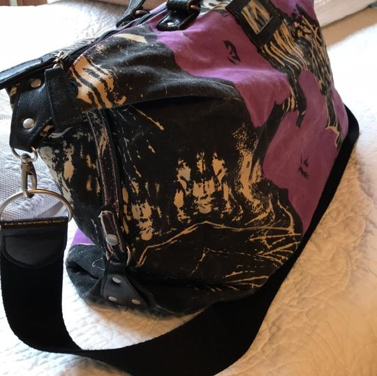 Andy Warhol purple/black Travel Bag Image 1