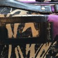 Andy Warhol purple/black Travel Bag Image 2
