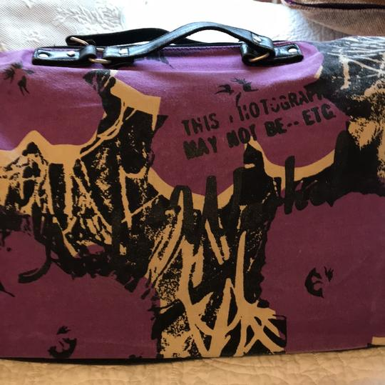 Andy Warhol purple/black Travel Bag Image 3
